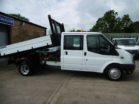 13 Ford Transit 350 Tipper 125bhp 32,000 Miles Double Crew Cab Dropside Tipper