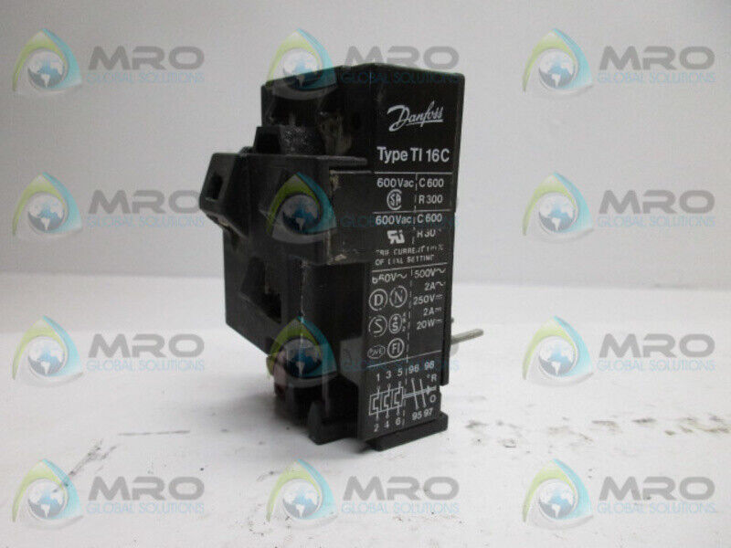 DANFOSS TYPE TI16C OVERLOAD RELAY 10-16A * USED *