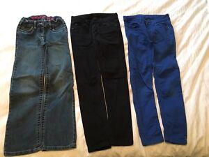Pantalons/manteau jeans fille 7-8 ans