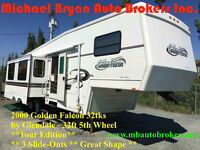 2000 GOLDEN FALCON 32FT 5TH WHEEL **3 SLIDE-OUTS** GREAT PRICE**