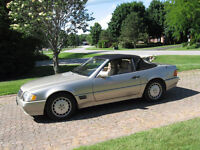 1992 MERCEDES 500 SL CONVERTIBLE WITH HARDTOP(REDUCED)