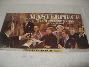 VINTAGE MASTERPIECE ART AUCTION BOARD GAME PARKER BROTHERS 100%