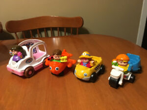 Fisher price little people lot #2 vehicles with people ice cream