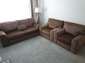 New sofa bed & 2 arm chairs