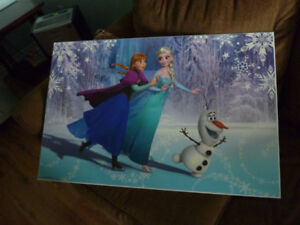 For Sale - Elsa/Anna Frozen Poster - Perma Placqued