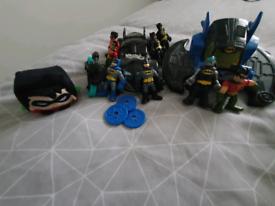 Batman figures and vehicles