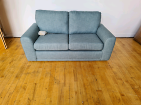 Brand New DFS Fabric Sofa Bed Sky Blue RRP £999