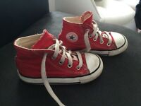 Red Converse Hightops - Infant Size 7