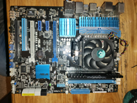 Motherboard Bundle, Asus M5A99X Evo,AMD FX4100,4GB Corsair