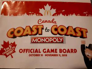 Will Pay! MCDONALDS COAST TO COAST MONOPOLY