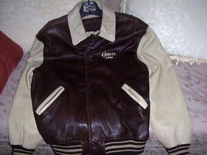 Varsity jacket, leather