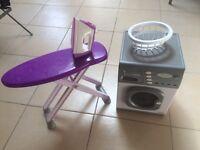 Washing machine, microwave and ironing board