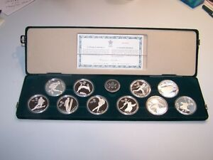 1988 Olympic Winter Games Coin Set