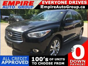 2014 INFINITI QX60 AWD * LEATHER * NAV * REAR CAM * 2 DVD'S * PA