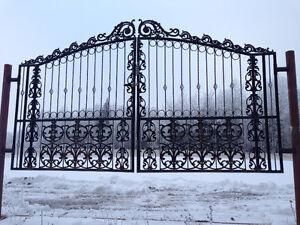 Driveway Cast Iron Gates - GATE OPENERS - Installation Strathcona County Edmonton Area image 2