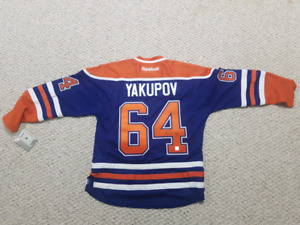 Nail Yakupov Signed Oilers Jersey