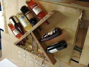 Relaimed wood wine rack