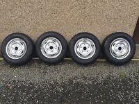 Transit Van Wheels with snow tyres