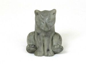 Vintage Soapstone Carving Of Sled Dog
