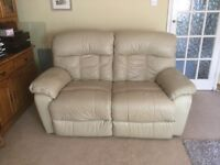 Cream leather sofa great condition