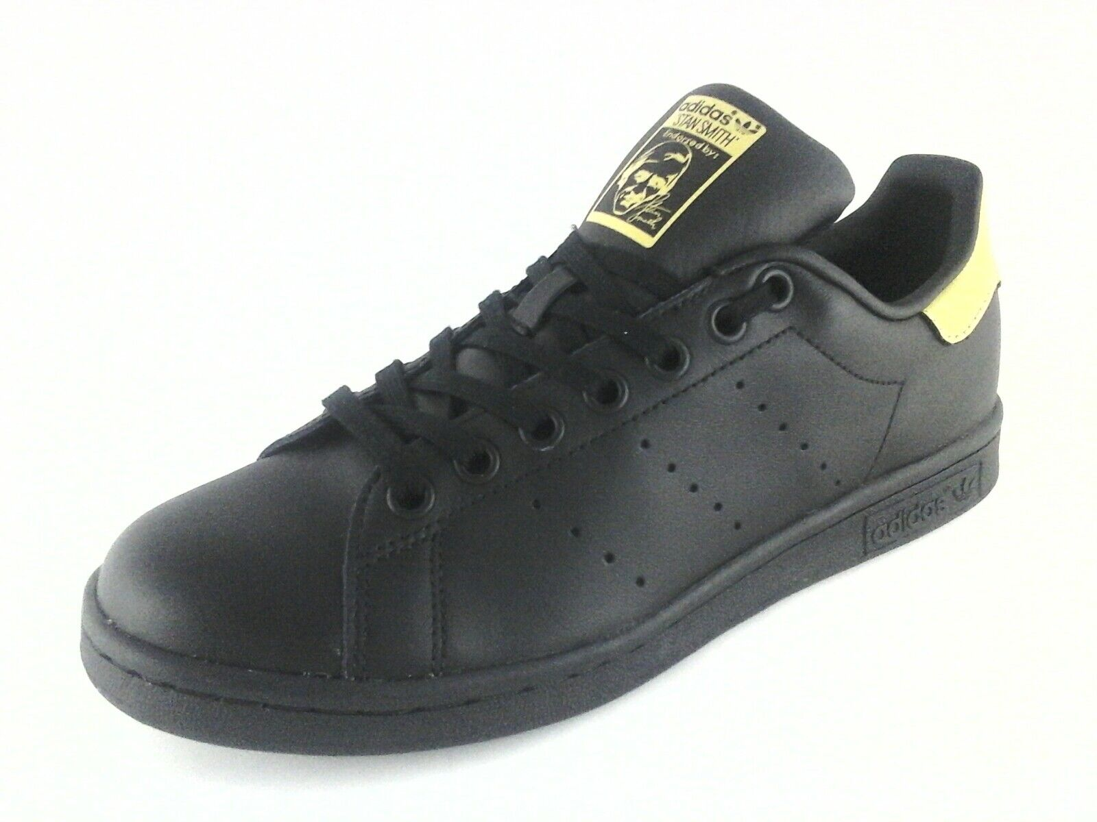 Details about Adidas Stan Smith Mens BB0208 Classic Sneakers Shoes Black & Gold US 6.5 UK 6