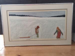 Tableau d'un peintre québécois Claude A. Simard, 1980