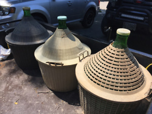 Carboys Wine Making Bottles / Jugs - $20 each or 3 for $50