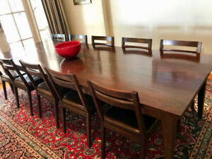 African Mahogany Dining table x10 seater