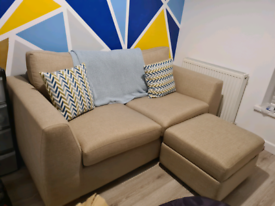 DFS Sofa and footstool