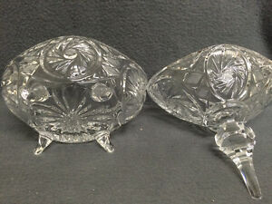 Collectible Antique Crystal Pinwheel Covered Candy Dish London Ontario image 10