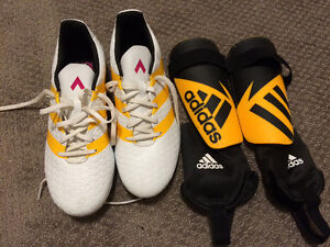 Women's Adidas Soccer Cleats and Shin Guards