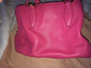 Authentic miu miu grained leather tote in peony pink Kitchener / Waterloo Kitchener Area image 7