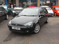2003 03 FORD FOCUS ST-170 3DR BLACK/HALF LEATHER SEATS/AIR CON