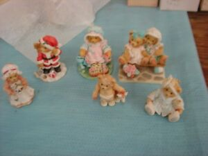 6 CHERISHED TEDDIES TRACIE & NICOLE WITH PAPERS