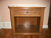 End tables with marble top
