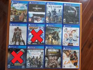 Plusieurs jeux de Playstation 4 à vendre