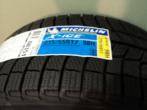 215/55R17 Michelin (X-ice3) Four Brand NEW winter tires