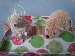 Brand New Christmas porcupine and mouse? ornaments