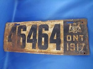 Looking for a 1917 ont licence plate London Ontario image 1