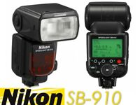 Nikon SB-910 iTTL Speedlight Flash for Nikon DSLR Cameras - Plus Extras