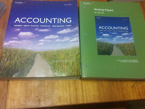 Accounting,vol1,second Canadian edition by warren +working paper London Ontario image 1
