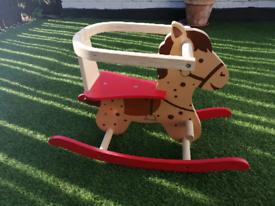 Wooden Child rocking horse £5