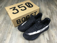 BRAND NEW BOXED – MENS YEEZY SUPLY 350 BOOST BLACK WHITE RUNNING TRAINERS – UK SIZE 8, 9, 9.5