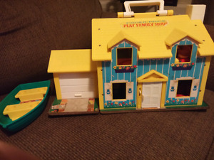 Antique Fisher Price Play Family House