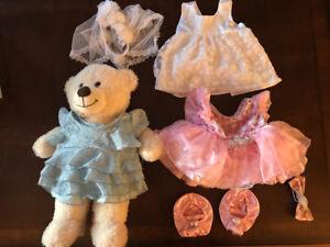 Build a Bear Teddy Bear and Clothes