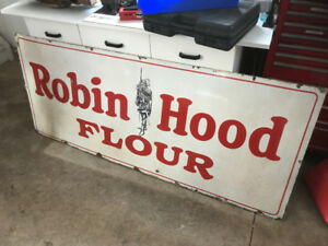 Vintage Robin Hood Porcelain single-sided sign