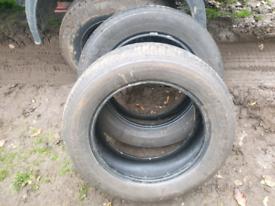 2 Tyres 205/60/16 5mm tread