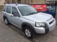 2006 LANDROVER FREELANDER TD4 s (55) 1 YEAR MOT, WARRANTY , £2395