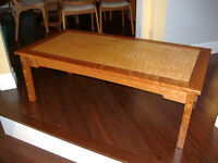 Handmade Cherry and Quilted Maple Coffee Table