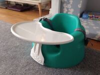 Bumbo with Tray and Straps Aqua/Green